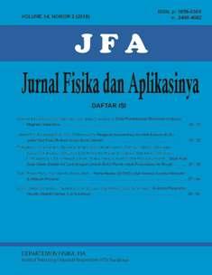 JFA (Jurnal Fisika dan Aplikasinya) Volume 14 Nomor 2 Edisi Juni 2018