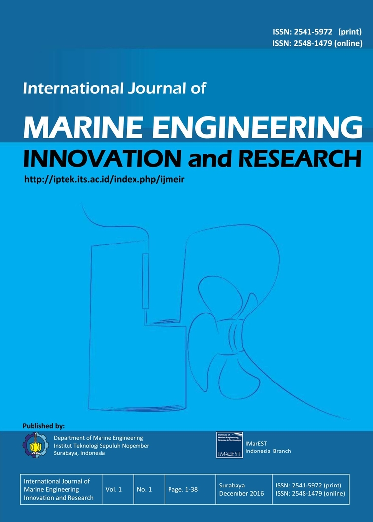 International Journal of Marine Engineering Innovation and Research Vol. 1 - No. 1