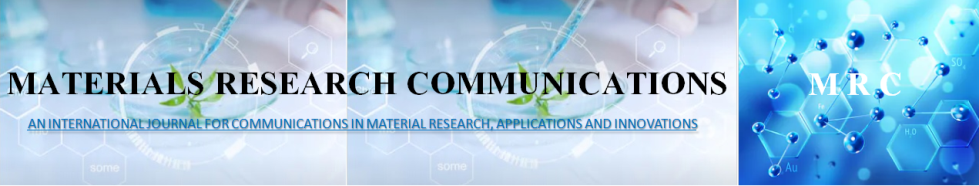Communications in material research, applications and innovations